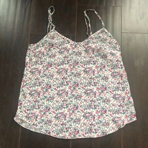 Wilfred | 100% silk light floral camisole tank top